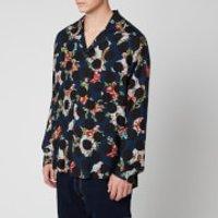 Acne Studios Men's Floral Polka Shirt - Navy Blue - 46/S