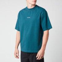 Acne Studios Men's Reverse Logo T-Shirt - Deep Petrol - M
