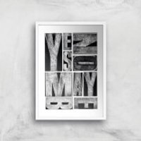 Yes, No, Maybe Giclee Art Print - A4 - White Frame