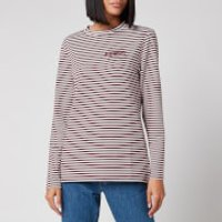 Superdry Women's Stripe Graphic NYC Top - Deep Port Stripe - UK 10