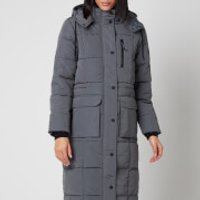 Superdry Womens Longline Everest Coat - Slate - UK 14