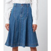 See By Chloe Women's Midi Skirt - Deep Denim - EU 42/UK 14