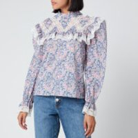 Philosophy di Lorenzo Serafini Women's Liberty Fantasy Print Blouse - Blue - IT 38/UK 6