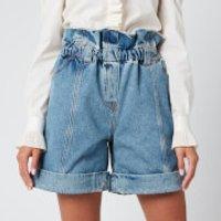 Philosophy di Lorenzo Serafini Women's Denim Shorts - Blue - IT 42/UK 10