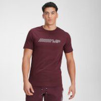 MP Mens Outline Graphic Short Sleeve T-Shirt - Washed Oxblood - XL