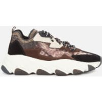 Ash Women's Eclipse Bis Chunky Running Style Trainers - Old Cheetah/Black - UK 5