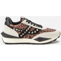Ash Women's Spider Studs Sustainable Running Style Trainers - Off White/Beige/Black - UK 5