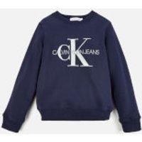Calvin Klein Monogram Logo Sweatshirt - Peacoat - 10-11 Years