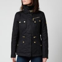 Barbour International Womens Brno Wax Jacket - Black - UK 16