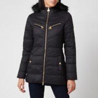Barbour International Womens Grounding Quilt Coat - Black - UK 8