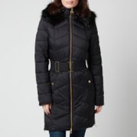 Barbour International Womens Match Quilt Coat - Black - UK 8