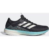 adidas SL20 PrimeBlue Running Shoes - Core Black/Chalk White/Blue Spirit - US 9.5/UK 9