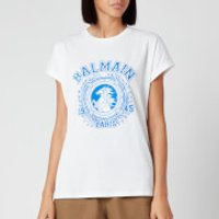 Balmain Women's Flocked Balmain University T-Shirt - White - M