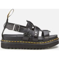 Dr. Martens Women's Terry Sandals - Black Brando - UK 4