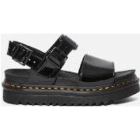 Dr. Martens Women's Voss Patent Sandals - Black Patent - UK 3