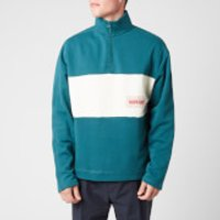 Napapijri X Martine Rose Men's B-Roseland Half Zip Sweatshirt - Deep Green - L