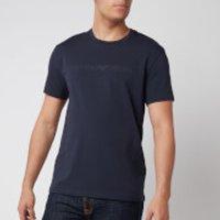 Emporio Armani Men's Textured Logoband T-Shirt - Blue - L