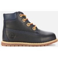 Timberland Toddlers' Pokey Pine Leather 6 Inch Boots - Navy - UK 6 Toddler