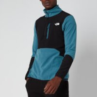 The North Face Men's Glacier Pro 1/4 Zip Fleece - Mallard Blue/TNF Black - XL