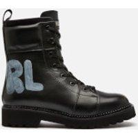 Karl Lagerfeld Womens Kadet Ii Hi Leather Lace Up Boots - Black - UK 6