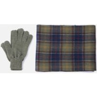 Barbour Mens Tartan Scarf and Gloves Gift Set - Signature Check