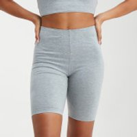 MP Women's Outline Graphic Cycling Shorts - Grey Marl - S