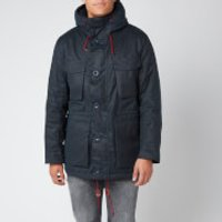Barbour Mens Ordel Wax Jacket - Navy - M