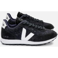 Veja Women's Rio Branco Flannel Running Style Trainers - Darl/White/Black - UK 7