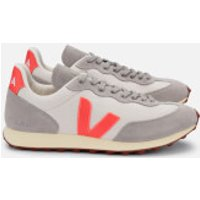 Veja Women's Rio Branco Mesh Running Style Trainers - Gravel/Orange Fluo/Oxford Grey - UK 6