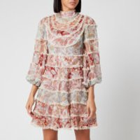 Zimmermann Women's Ladybeetle Spliced Mini Dress - Spliced Jacobean - 0/UK8