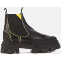 Ganni Women's Leather Chelsea Boots - Black - UK 5