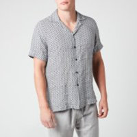 Frescobol Carioca Men's Beam Camp Collar Shirt - Ink - L