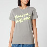 Maison Kitsune Women's T-Shirt Handwriting - Dark Grey - XS
