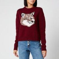Maison Kitsune Women's Fox Head Pullover - Burgundy - S