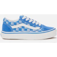 Vans Kids' Racers Edge Old Skool Trainers - Blue/True White - UK 10 Kids