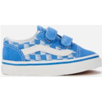 Vans Toddlers' Racers Edge Old Skool Velcro Trainers - Blue/True White - UK 7 Toddler