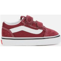 Vans Toddlers' Old Skool Velcro Trainers - Port Royale/True White - UK 4 Toddler