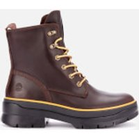 Timberland Women's Malynn Mid Lace Waterproof Leather Boots - Dark Brown - UK 6