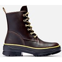 Timberland Womens Malynn Mid Lace Waterproof Leather Boots - Dark Brown - UK 5