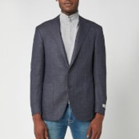 Canali Men's Wool Hopsack Kei Blazer - Blue - IT 52/UK 42