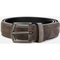 Canali Men's Suede Belt - Grey - 100cm