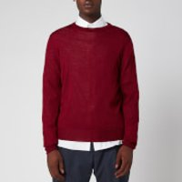 Canali Men's Long Sleeve Crew Neck Jumper - Burgundy - IT 54/UK 44