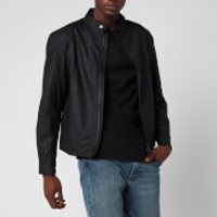Barbour International Mens Stove Wax Jacket - Black - XXL