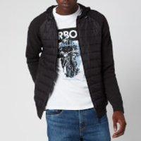 Barbour International Men's Albie Baffle Hooded Knit Jacket - Black Marl - XL
