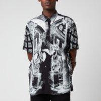 HUGO Mens Ebor Short Sleeve Shirt - Black - M