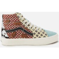 Vans Women's Tiger Patchwork Sk8 Hi-Top Trainers - Black/True White - UK 4