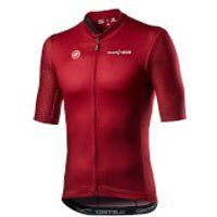Castelli Team Ineos The Line Jersey - S - Dark Red/Black