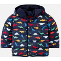 Joules Babies Jessie Padded Coat - Navy Dinos - 9-12 months