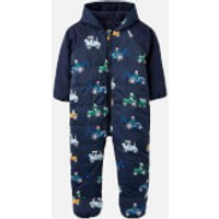 Joules Babies Snuggle Pramsuit - Navy Tractor - 18-24 months