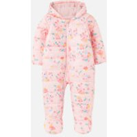 Joules Babies Snuggle Pramsuit - Soft Pink Ditsy - 6-9 months